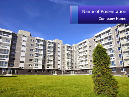 Sixstory apartment PowerPoint Templates