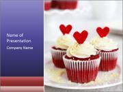 Redvelvet cupcakes PowerPoint Templates