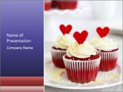 Redvelvet cupcakes PowerPoint Template