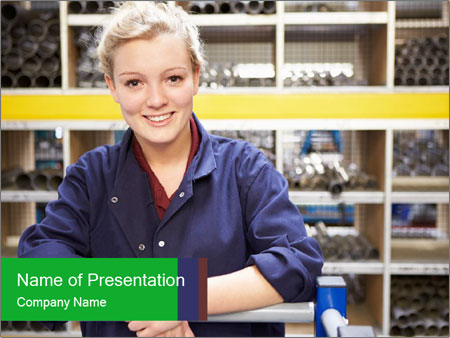 Female Engineering PowerPoint Templates