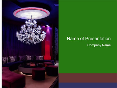 Interior of a fancy nightclub PowerPoint Templates