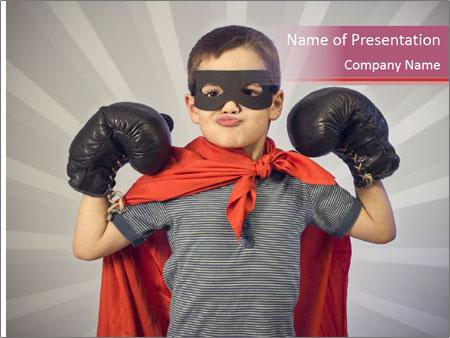Superhero kid PowerPoint Templates