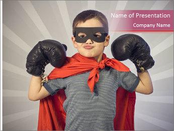 Superhero kid PowerPoint Templates - Slide 1