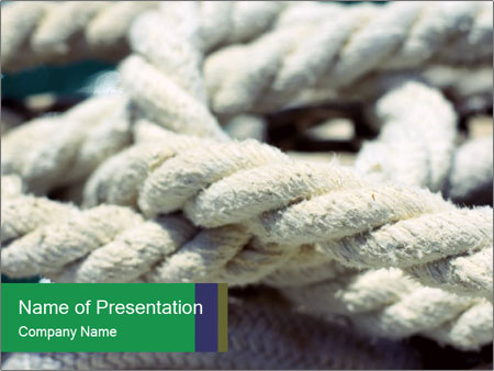 White rope PowerPoint Templates