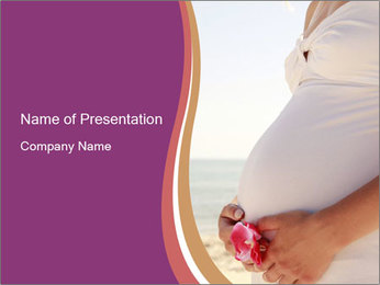 A belly pregnant woman PowerPoint Template - Slide 1