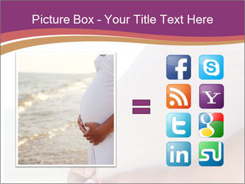 A belly pregnant woman PowerPoint Template - Slide 21
