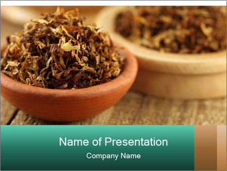 Tobacco for making cigarette PowerPoint Template