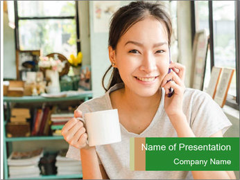 Coffee shop PowerPoint Templates - Slide 1