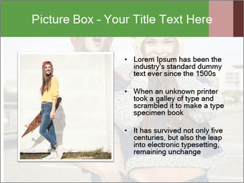 Two young hipster girl PowerPoint Template - Slide 13
