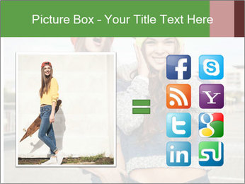 Two young hipster girl PowerPoint Template - Slide 21