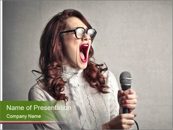 Loud Singing PowerPoint Templates - Slide 1