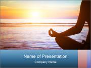 yoga exercise - powerpoint template - smiletemplates, Presentation templates