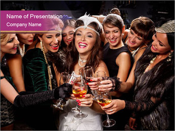 Beautiful women PowerPoint Templates - Slide 1