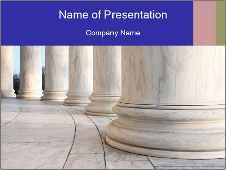 Base of Ionic Columns PowerPoint Templates