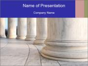Base of Ionic Columns PowerPoint Template