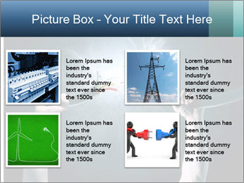 Human hand holding cable PowerPoint Template - Slide 14