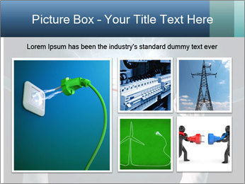 Human hand holding cable PowerPoint Template - Slide 19