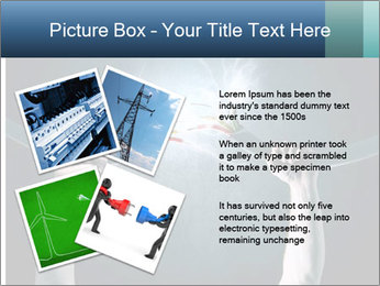 Human hand holding cable PowerPoint Template - Slide 23