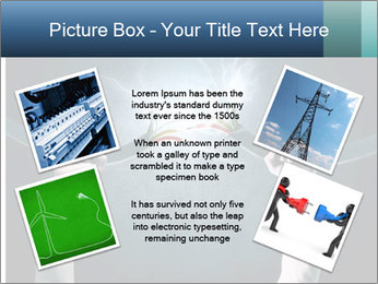 Human hand holding cable PowerPoint Template - Slide 24