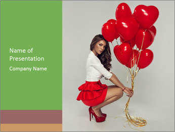 Sexy brunette PowerPoint Templates - Slide 1