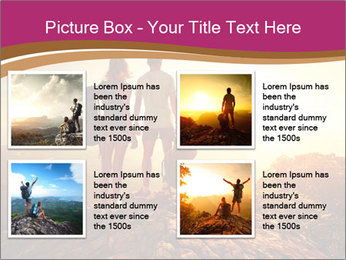 Hikers with backpacks PowerPoint Templates - Slide 14