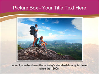 Hikers with backpacks PowerPoint Templates - Slide 15