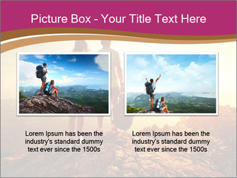 Hikers with backpacks PowerPoint Templates - Slide 18