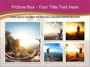 Hikers with backpacks PowerPoint Templates - Slide 19