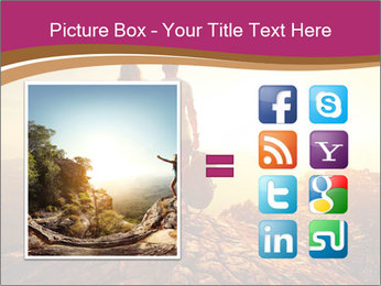 Hikers with backpacks PowerPoint Templates - Slide 21