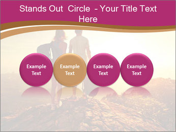 Hikers with backpacks PowerPoint Templates - Slide 76