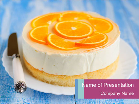 Healthy Orange Cake PowerPoint Templates