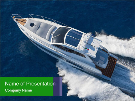 Motor boat PowerPoint Template