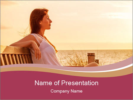 Relaxing female PowerPoint Templates