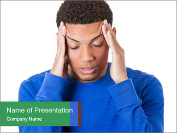 Worried young man PowerPoint Templates - Slide 1