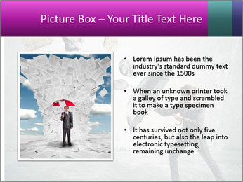 Business man protects PowerPoint Templates - Slide 13