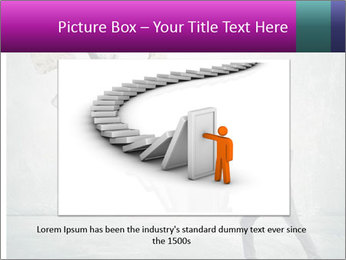 Business man protects PowerPoint Templates - Slide 15
