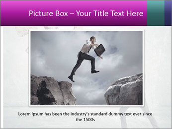Business man protects PowerPoint Templates - Slide 16