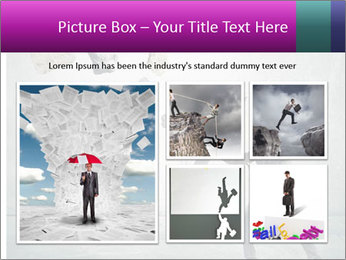 Business man protects PowerPoint Templates - Slide 19