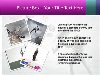 Business man protects PowerPoint Templates - Slide 23