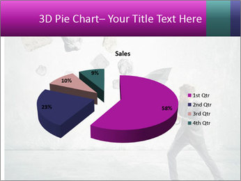 Business man protects PowerPoint Templates - Slide 35