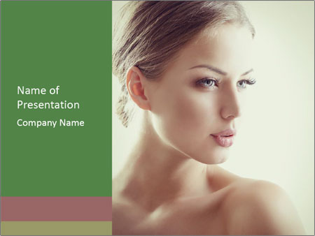 Beauty portrait woman PowerPoint Template
