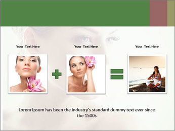 Beauty portrait woman PowerPoint Template - Slide 22