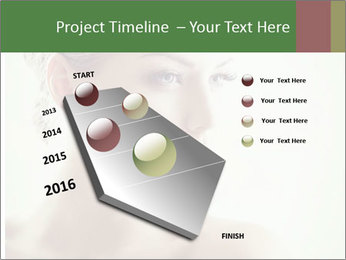 Beauty portrait woman PowerPoint Template - Slide 26