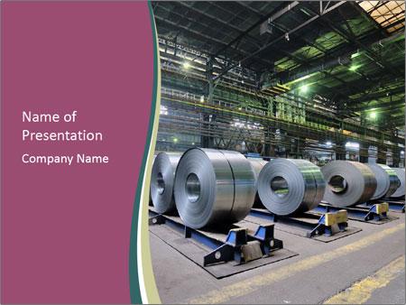 Rolls of steel sheet PowerPoint Template