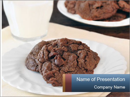 Two chocolate cookies PowerPoint Template