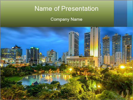 Commercial City PowerPoint Templates