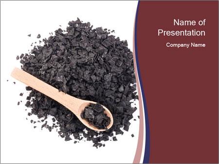 Charcoal salt PowerPoint Templates