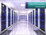 Server room PowerPoint Template