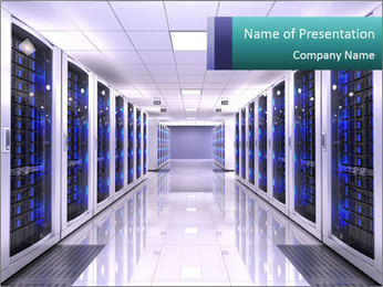 Server room PowerPoint Templates - Slide 1