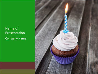 Tasty birthday PowerPoint Template - Slide 1